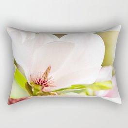 Magnolia sepal flowering macro Rectangular Pillow