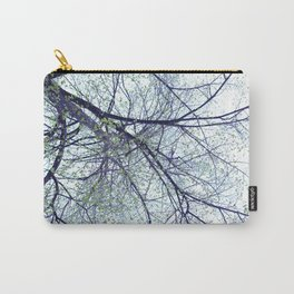 Tree reverse perspective, green leaves, blue sky Carry-All Pouch
