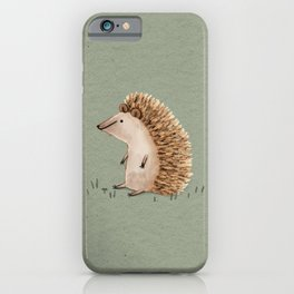 Hedgie Has a Sit Down iPhone Case