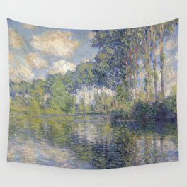 1891-Claude Monet-Poplars on the Epte-81 x 81 Wall Tapestry
