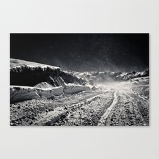 B&W Snow Background Canvas Print