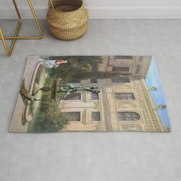 12,000px,500dpi-Hans von Marees - Courtyard with the Grotto in the Munich Royal Residence - Digital Remastered Edition Rug