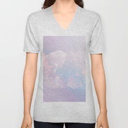 Whimsical Pastel Candy Sky #surreal #society6 Unisex V-Neck