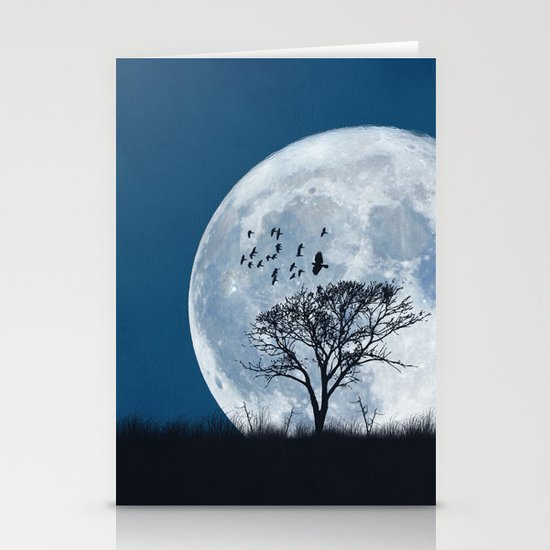 When the moon speaks (part IV) Stationery Cards