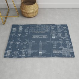 COCKTAIL CHART blueprint Rug