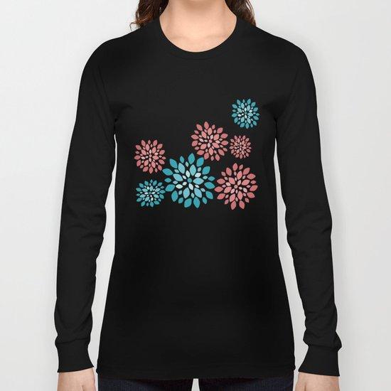 Flower Flurries Beige Long Sleeve T-shirt