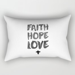Faith Hope Love Rectangular Pillow