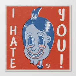 Hater Vintage Kid Canvas Print