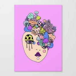 shroom face Canvas Print