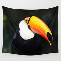 toucan Wall Tapestries featuring Toucan by rnsaltori