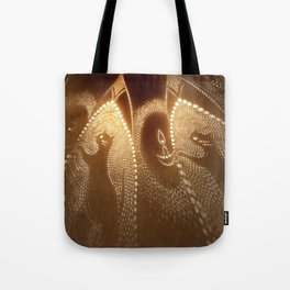 Cats carrying lights Tote Bag