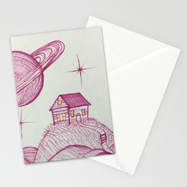 Planetary Escape Stationery Cards