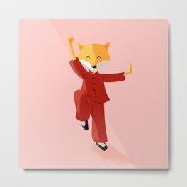 Mr. Fox knows Kung fu Metal Print
