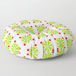 Symmetric patterns 138 green and red Floor Pillow