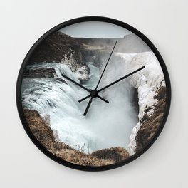 Gullfoss - Landscape Photography Wall Clock