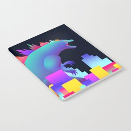 Neon city Godzilla Notebook