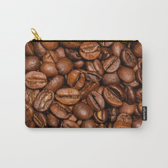 Shiny brown coffee beans Carry-All Pouch