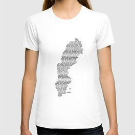 Cities in Sweden - white T-shirt