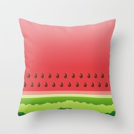 Watermelon slice background Throw Pillow