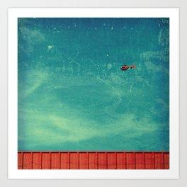 red carpet in the sky Art Print