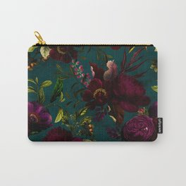 Before Midnight Vintage Flowers Garden Carry-All Pouch