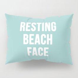 Resting Beach Face Pillow Sham