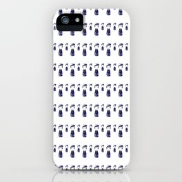 Little Navy Kokeshi Dolls all in a Row iPhone Case