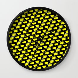 Crowns Pattern Wall Clock