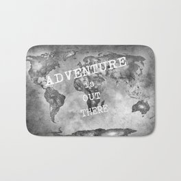 Adventure is out there... Stars world map BW Bath Mat