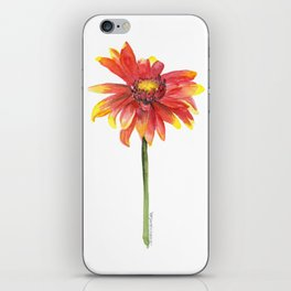 Indian Blanket Wildflower Watercolor iPhone Skin