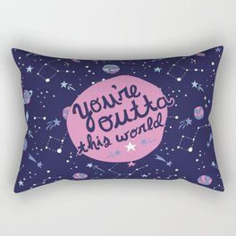 You're Outta this World in Purple Rectangular Pillow