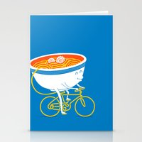 ramen Stationery Cards featuring GoGo Ramen by mogumogu