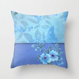 Paper flowers Throw Pillow