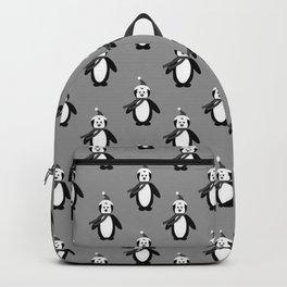 Goth Christmas   Holidays   Black penguins   Gothic Holidays Backpack
