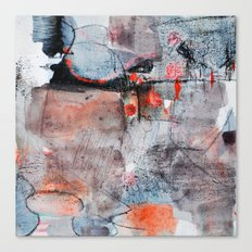 grey red 1 Canvas Print