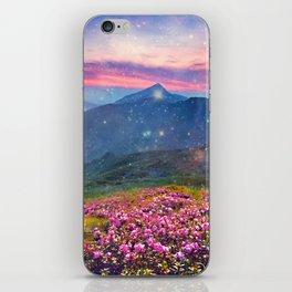 Blooming mountains iPhone Skin