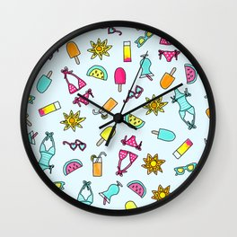 Summer Daze Wall Clock