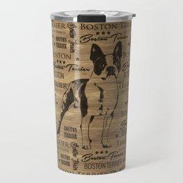 Boston Terrier dog Travel Mug