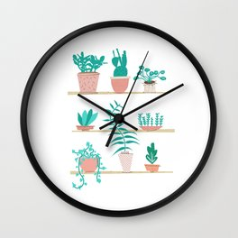 Pot Plants Wall Clock