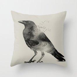 Raven Sky Throw Pillow