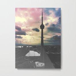 Toronto CN Tower Color Split Metal Print