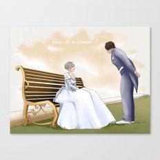 Demande en mariage Canvas Print