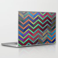holographic Laptop & iPad Skins featuring Color Transition Chevron by Klara Acel