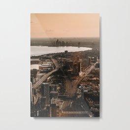 aerial photo of city vx Metal Print