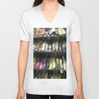shoes V-neck T-shirts featuring Shoes by Camille's Images