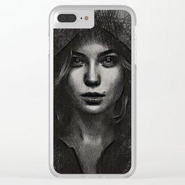 black mamba Clear iPhone Case