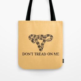 Dont Tread On Me sepia Tote Bag