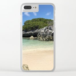 Vieques beach Clear iPhone Case