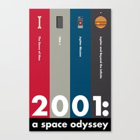 2001 a space odyssey Canvas Prints featuring 2001: A Space Odyssey by Jenny Norwood