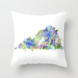 Virginia Blues - States Series Throw Pillow